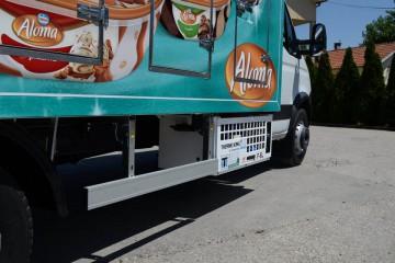 UNICE sladoledara, ugradnja rashladnog uređaja ispod nadogradnje
