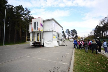 CPN pokretna skola mobile school semi trailer