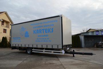 UNIT O3 TAUTLINER, model UniOne, prevoz kartonske ambalaže