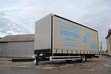 UNIT O3 TAUTLINER, model UniOne, prevoz kartonske ambalaže 3