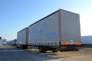 UNI CARGO TAUTLINER vučni voz za prevoz kartonske ambalaže 6