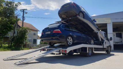 UNI CARGO CAR STEEL navoz na sprat za prevoz dva automobila 2