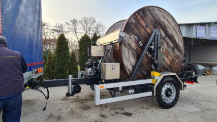 UNIT (traktorska) kablovska prikolica za prevoz kalemova sa kablovima