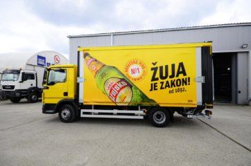 UNI CARGO OPEN BOX za prevoz pića, sa utovarnom rampom i klapnom