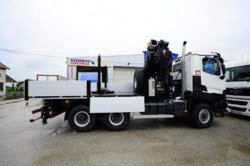 UNI CARGO SIDES nadogradnja sa okretnicom u tovarnom sanduku i dizalicom HIAB smeštenom iza kabine vozila 5
