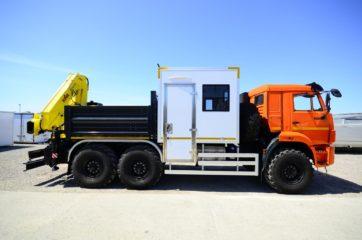 Nadogradnja za prevoz rudara sa tovarnim sandukom i Hyva dizalicom 2