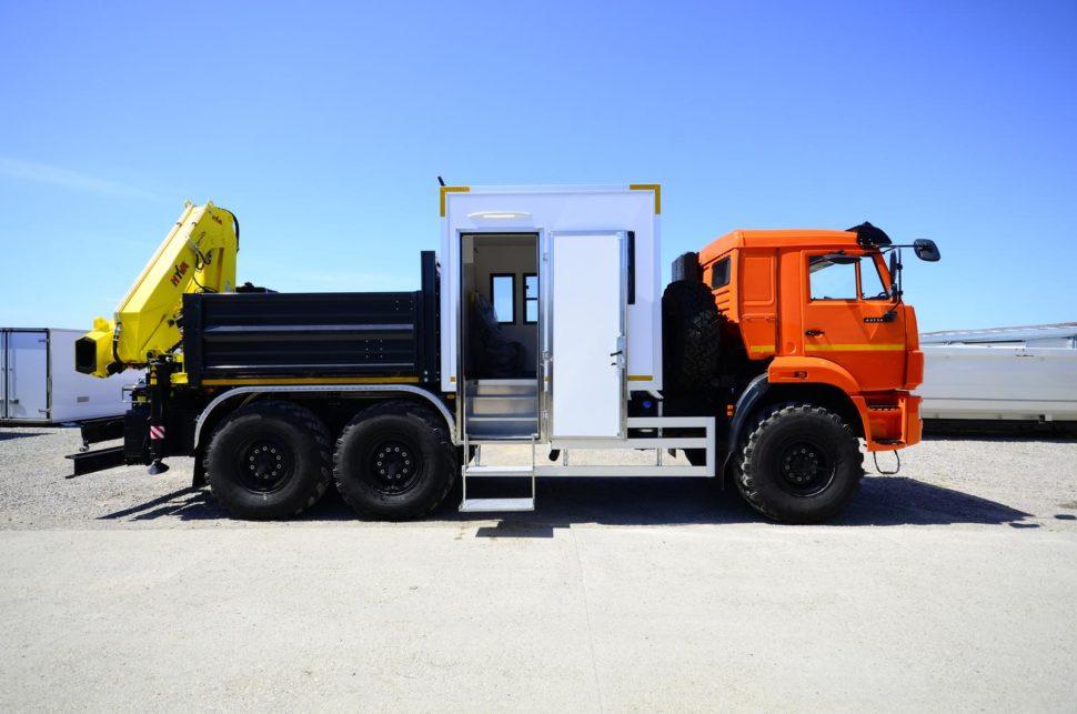 Nadogradnja za prevoz rudara sa tovarnim sandukom i Hyva dizalicom 4