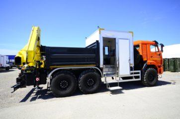 Nadogradnja za prevoz rudara sa tovarnim sandukom i Hyva dizalicom 3