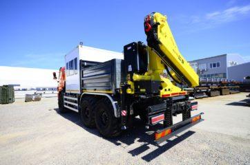 Nadogradnja za prevoz rudara sa tovarnim sandukom i Hyva dizalicom 12