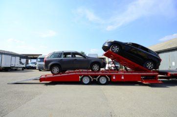 UNIT O3 - Dvoosovinska auto prikolica (navoz) sa podiznim platformama 9