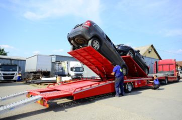 UNIT O3 - Dvoosovinska auto prikolica (navoz) sa podiznim platformama 11