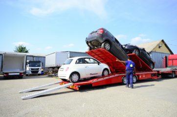 UNIT O3 - Dvoosovinska auto prikolica (navoz) sa podiznim platformama 12