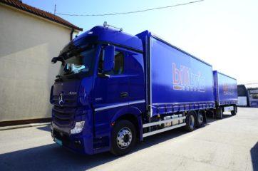 UNI CARGO tautliner za utovar 18EP u kamion i Krone tautliner za utovar 17EP - tandem