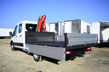 UNI CARGO tovarni sanduk sa aluminijumskim stranicama i hidrauličnom mikro dizalicom Fassi 3