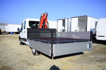 UNI CARGO tovarni sanduk sa aluminijumskim stranicama i hidrauličnom mikro dizalicom Fassi 4