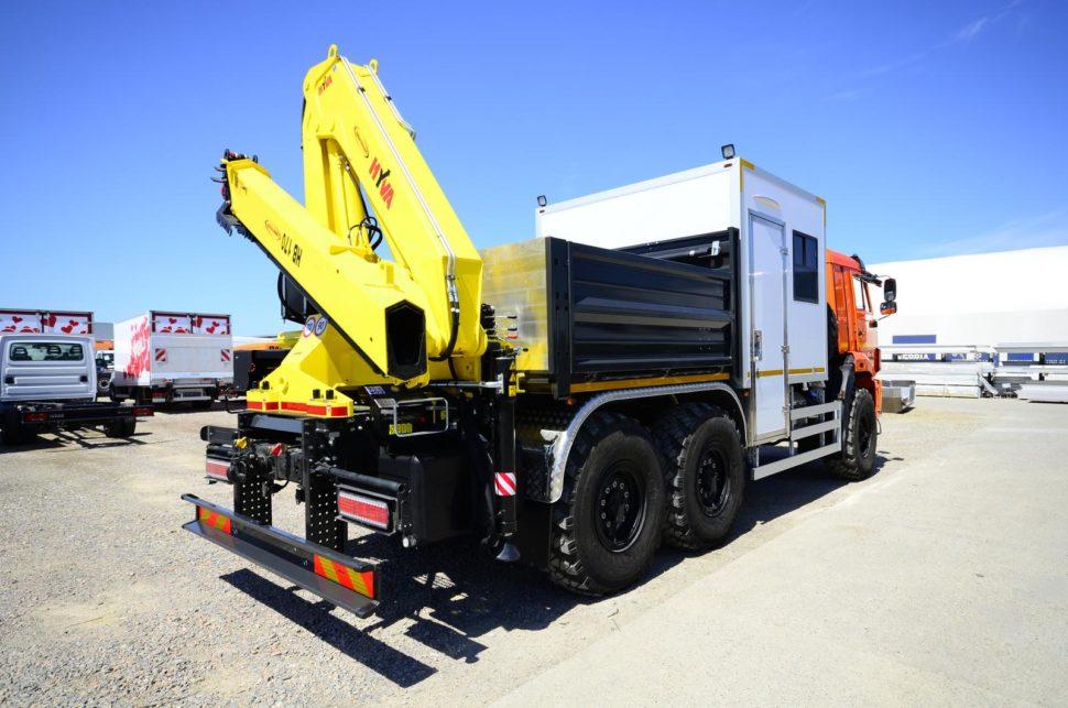 Nadogradnja za prevoz rudara sa tovarnim sandukom i Hyva dizalicom 14