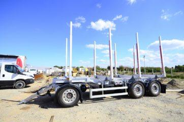 UNIT O4 - troosovinska, Aluminijum sticer prikolica 27t bruto, prevoz drva 1
