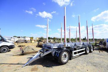 UNIT O4 - troosovinska, Aluminijum sticer prikolica 27t bruto, prevoz drva 7