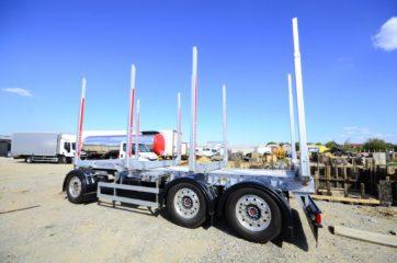 UNIT O4 - troosovinska, Aluminijum sticer prikolica 27t bruto, prevoz drva 4