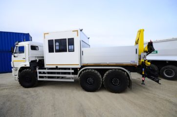 UNIC nadogradnja za prevoz rudara sa HYVA dizalicom 7