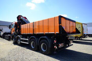 UNICARGO TIPPER trostrani kiperski sanduk HARDOX, zapremine 12m3, sa Fassi F600RA.2.26 iza kabine vozila 3