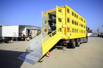UNI CARGO ANIMAL nadogradnja za prevoz živih životinja u III nivoa - spustena rampa